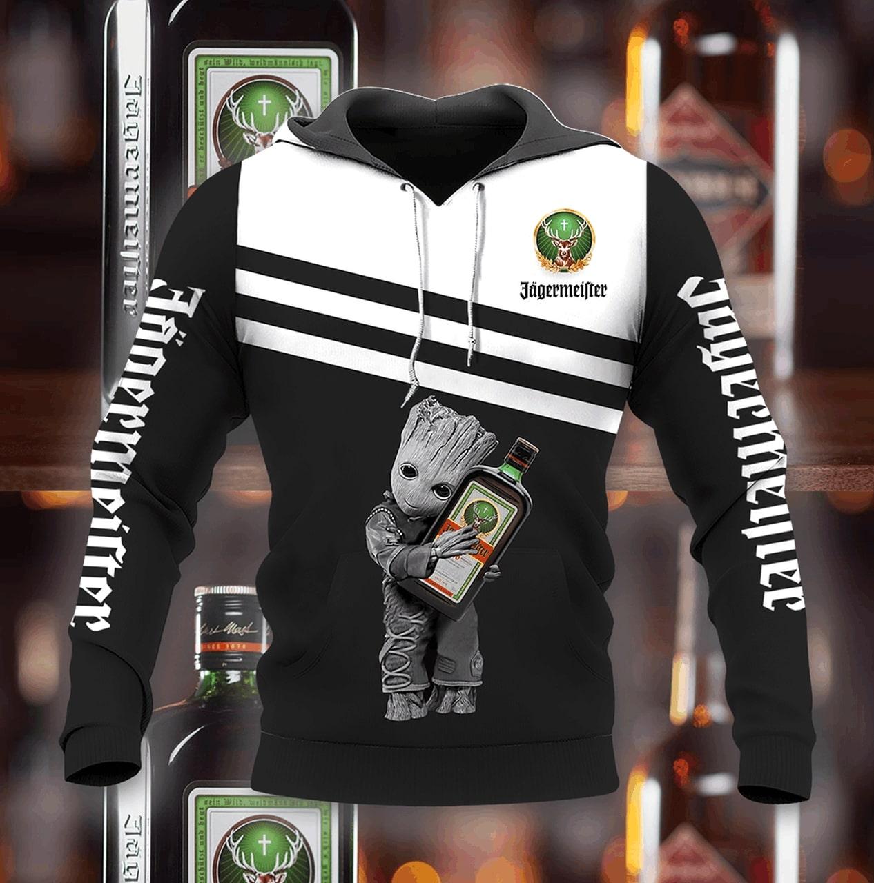 Groot hold jagermeister full printing hoodie