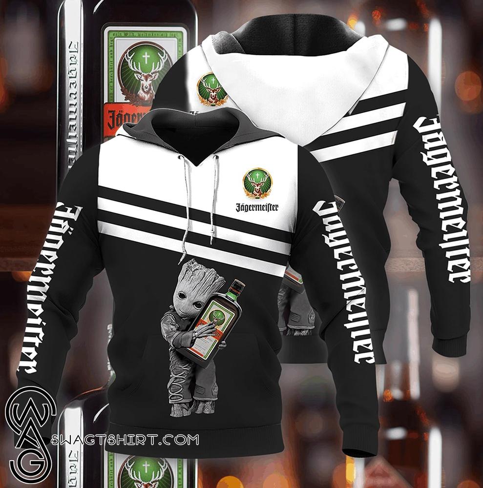 Groot hold jagermeister full printing shirt