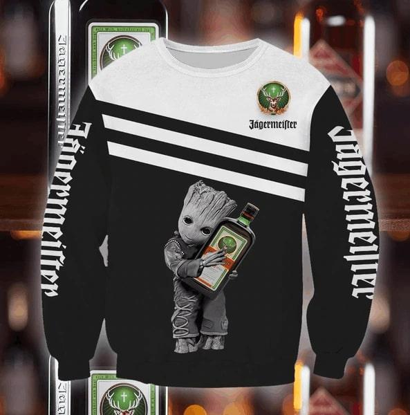 Groot hold jagermeister full printing sweatshirt