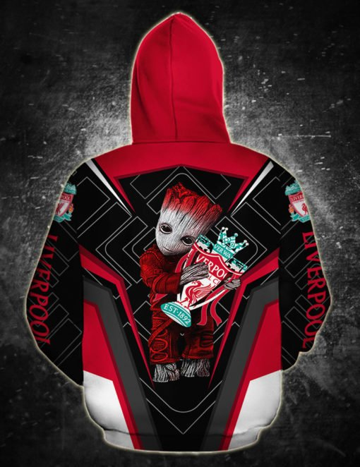 Groot hold liverpool fc full printing hoodie 1