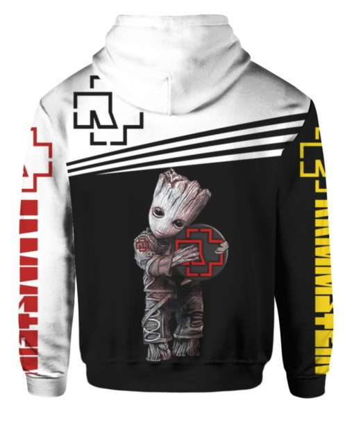 Groot hug rammstein rock band full printing hoodie 3