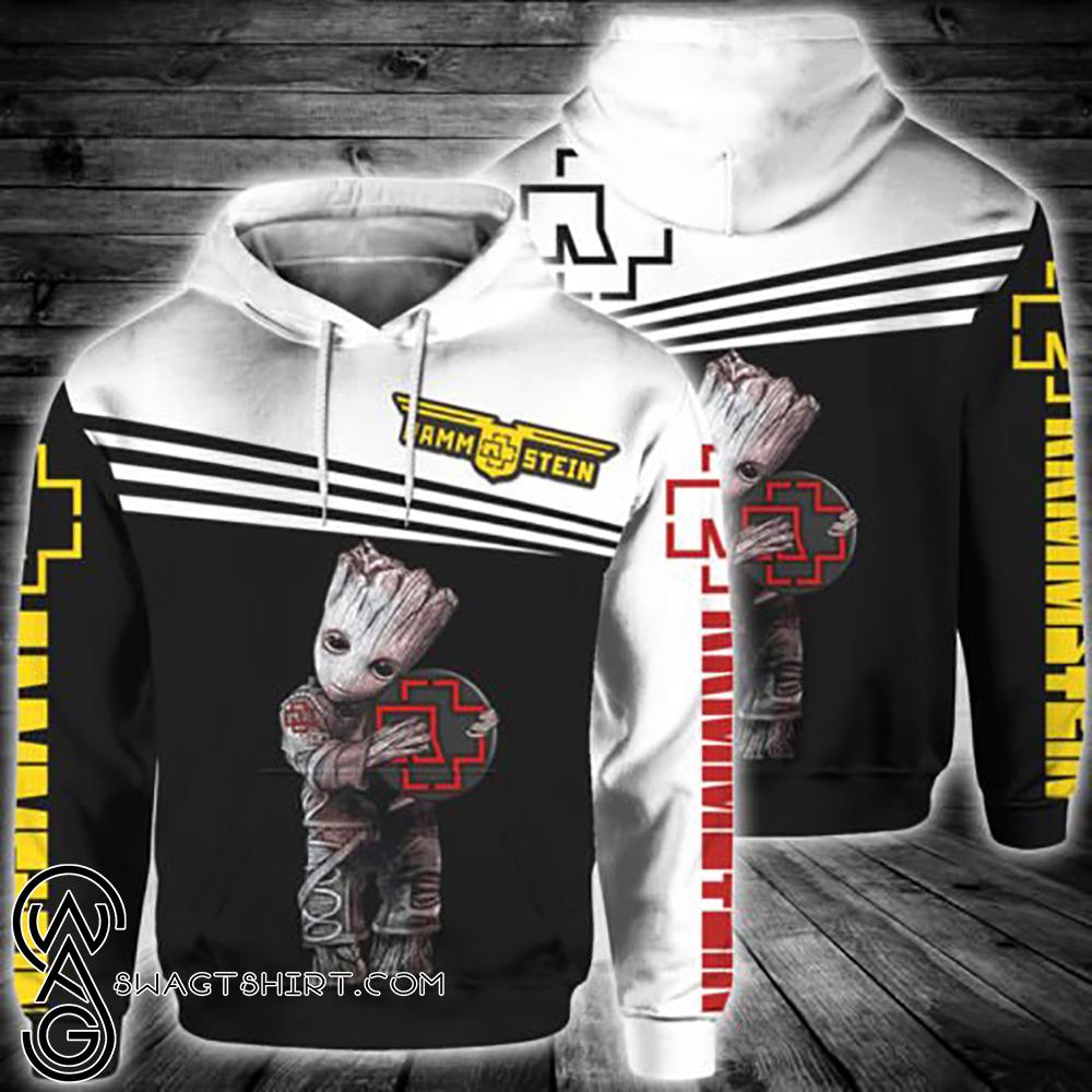 Groot hug rammstein rock band full printing shirt