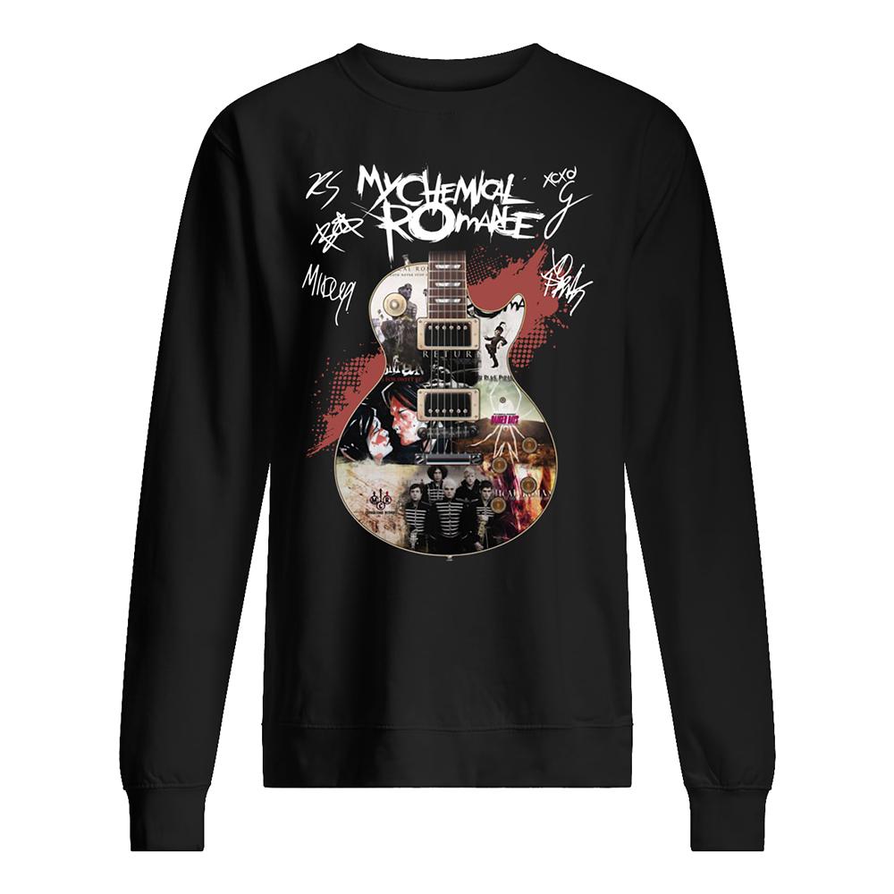 Guitar my chemical romance signatures sweatshirt