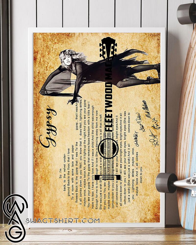 Gypsy fleetwood mac guitar poster