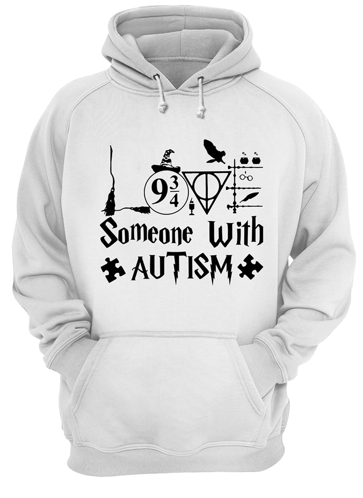 Harry potter someone with autism awareness hoodie