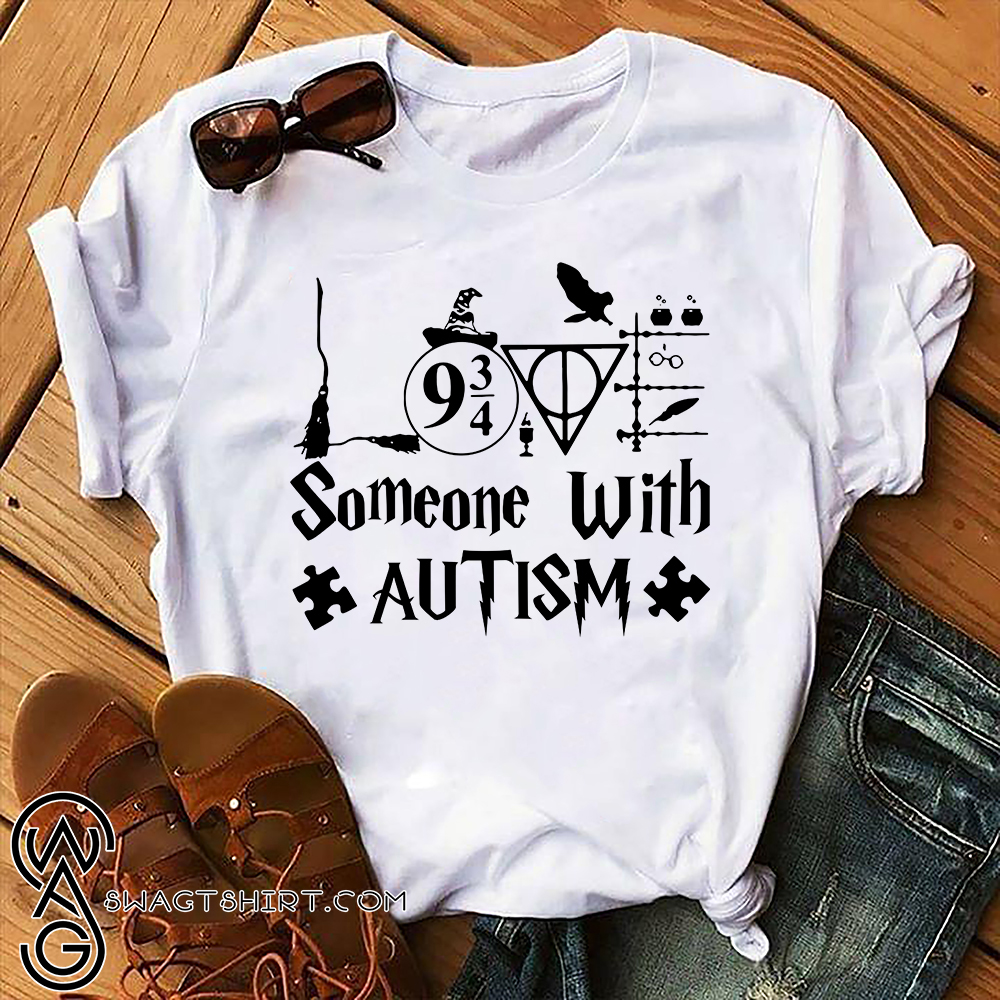 Harry potter someone with autism awareness shirt