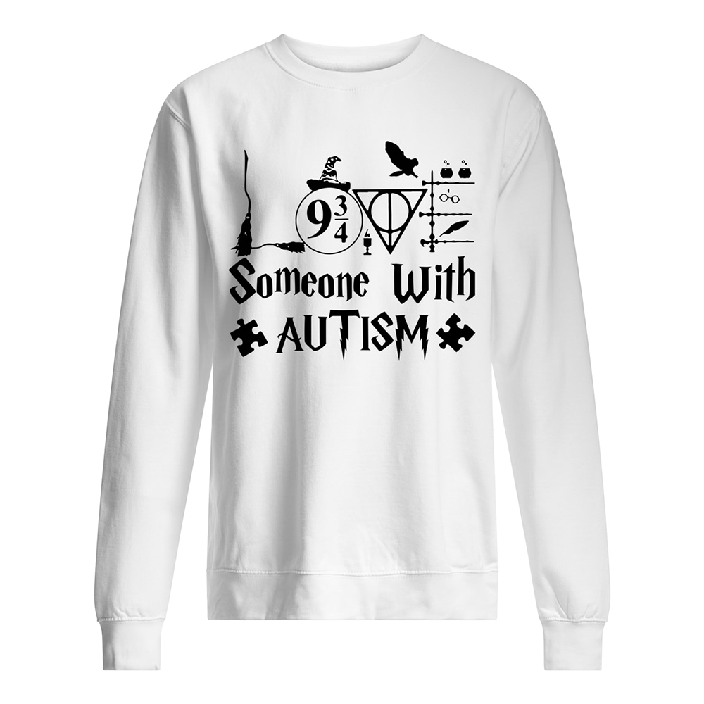 Harry potter someone with autism awareness sweatshirt