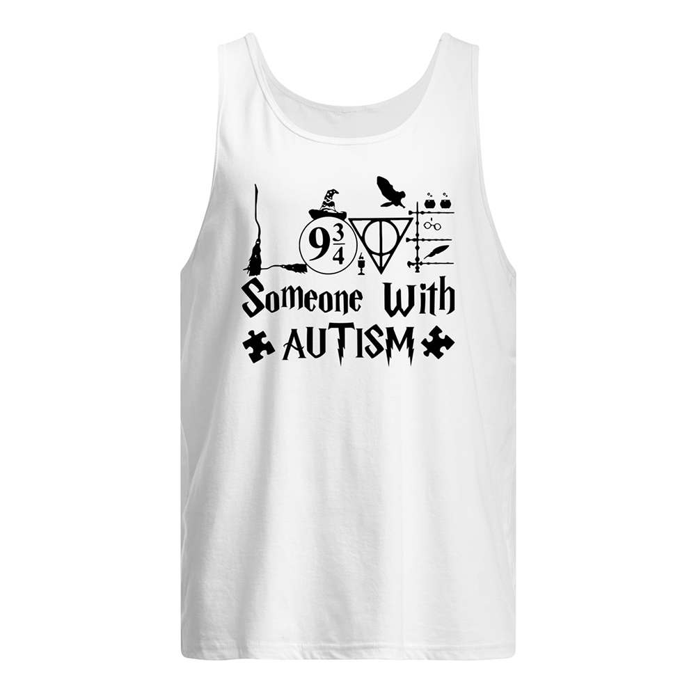 Harry potter someone with autism awareness tank top