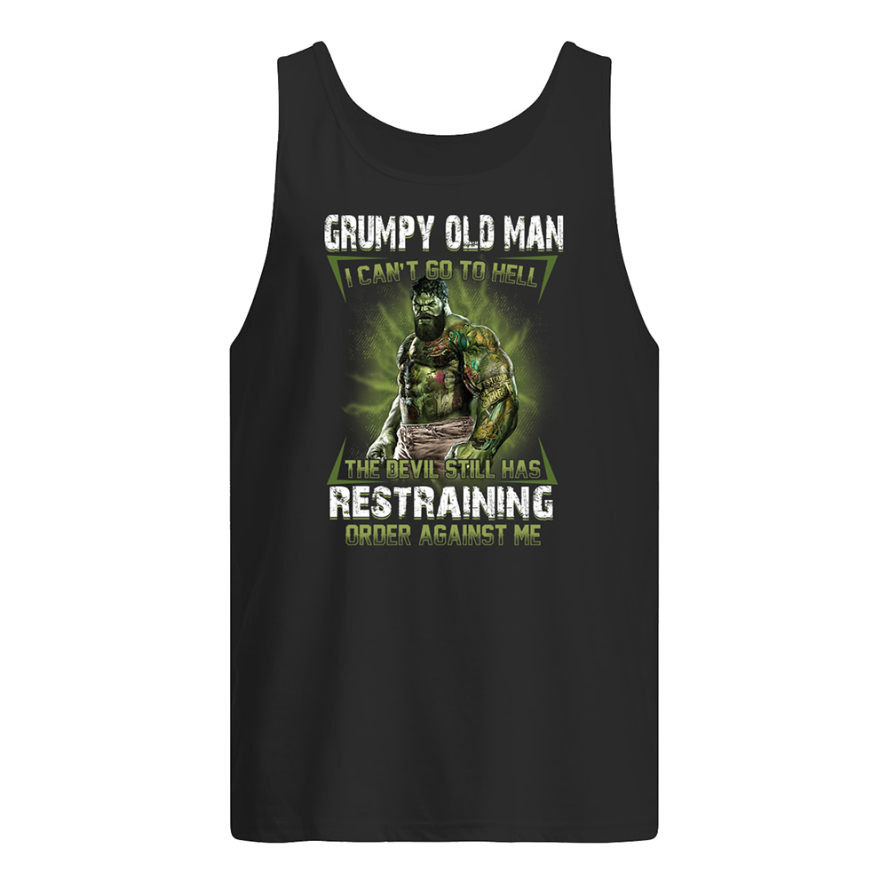 Hulk i am a grumpy old man i'm allergic to stupidity i break out in sarcasm tank top