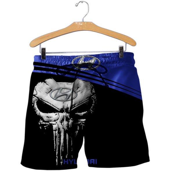 Hyundai skull all over printed shorts