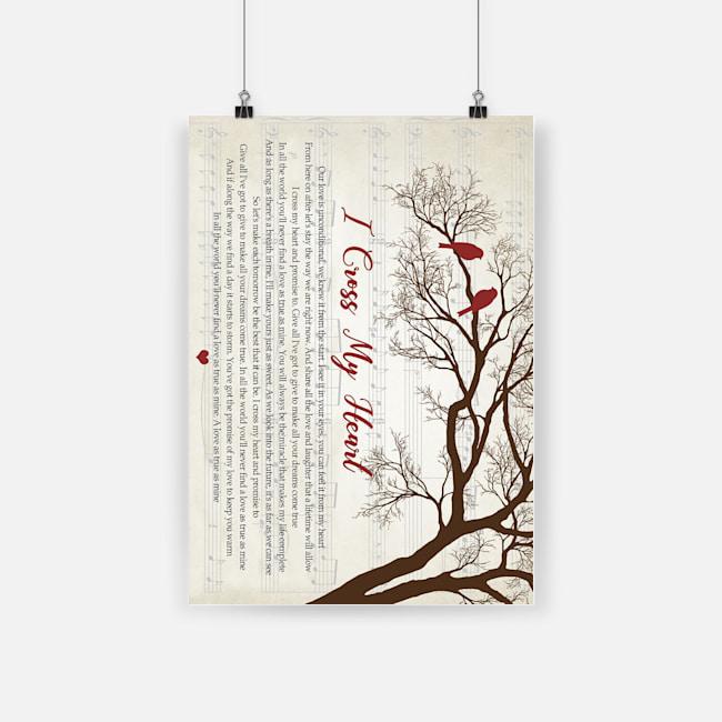 I cross my heart lyrics tree paper poster 1