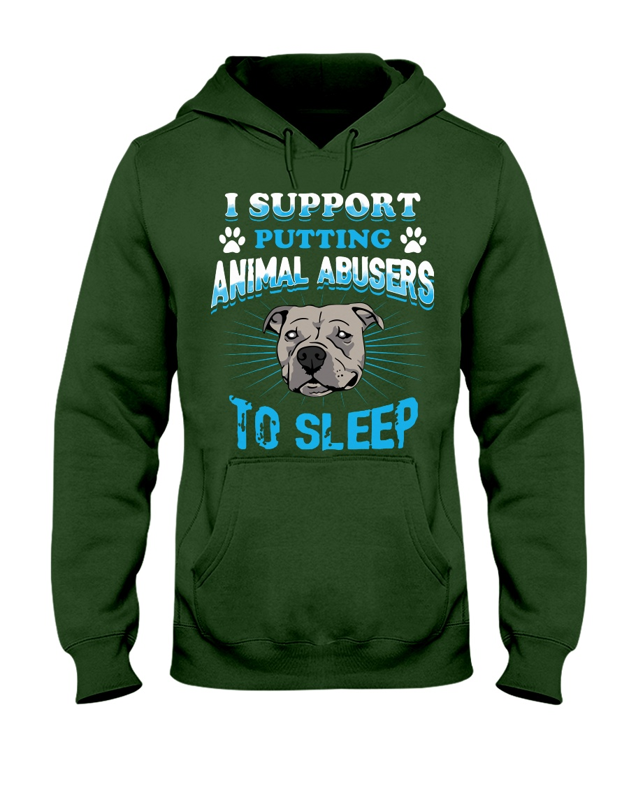 I support putting animal abusers to sleep dog rescue hoodie