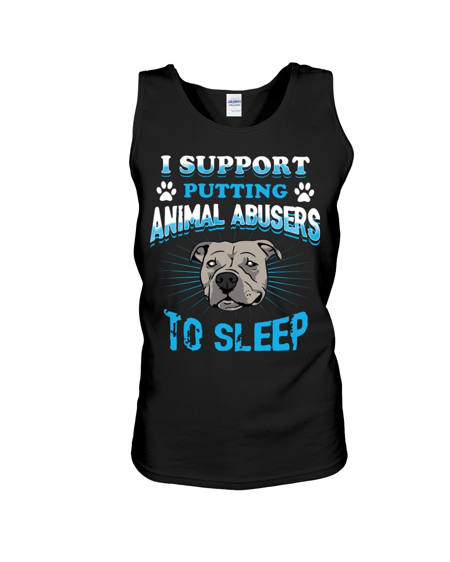 I support putting animal abusers to sleep dog rescue tank top