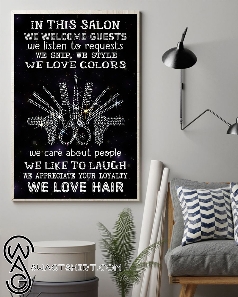 In this salon we welcome guest we listen to requests poster
