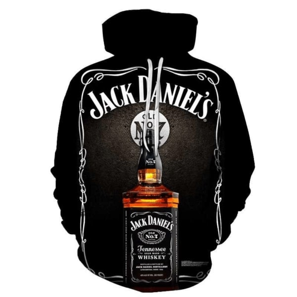Jack daniel's old no 7 tennessee whiskey full printing hoodie 2