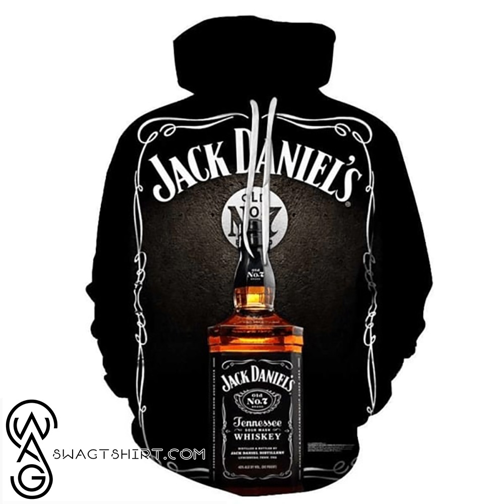 Jack daniel's old no 7 tennessee whiskey full printing shirt