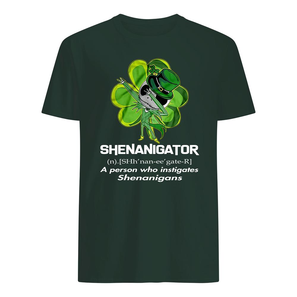 Jack skellington shenanigator definition saint patrick's day mens shirt