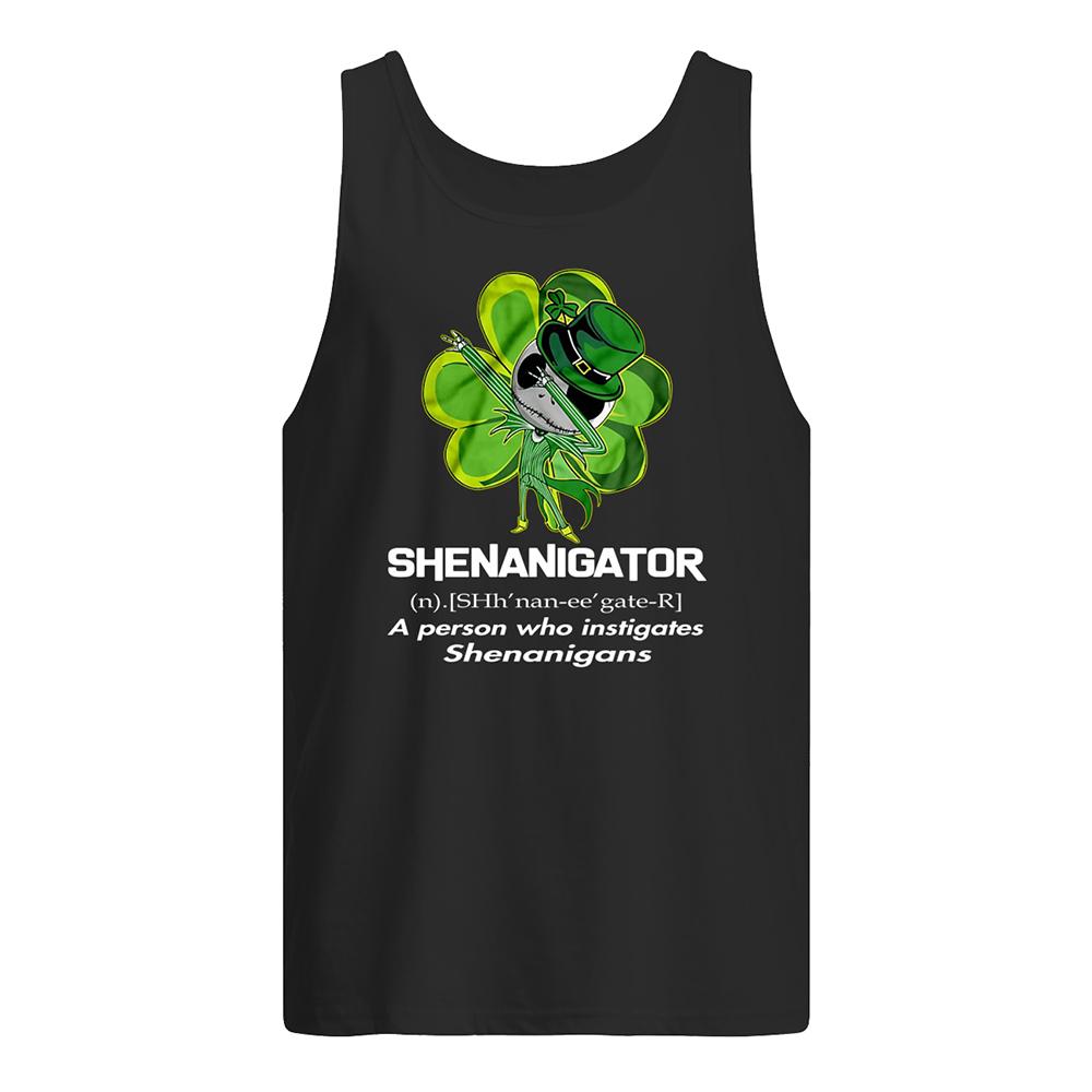 Jack skellington shenanigator definition saint patrick's day tank top
