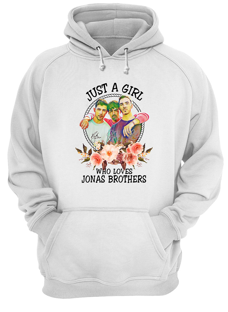 Just a girl who loves jonas brothers hoodie