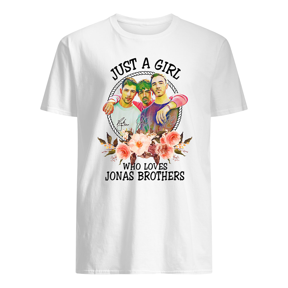 Just a girl who loves jonas brothers mens shirt