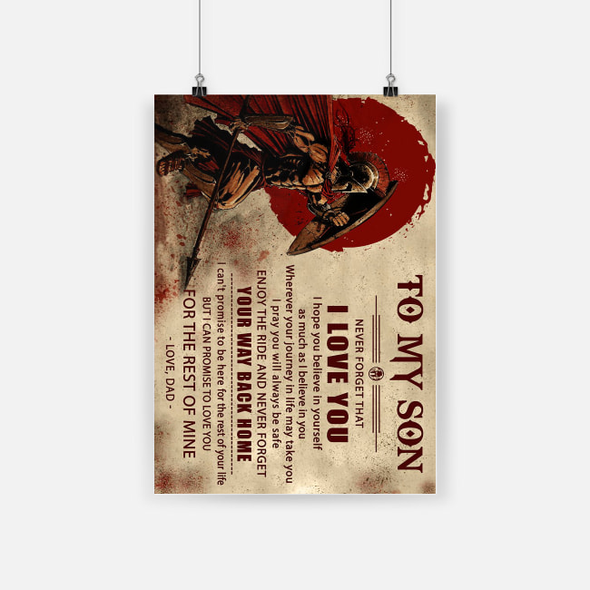 Knight templar to my son never forget how much i love you dad poster 1