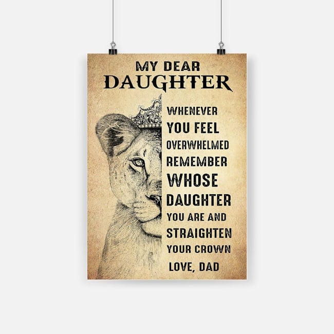 Lion king my dear daughter whenever you feel poster 2