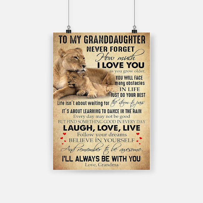 Lion to my granddaughter never forget that i love you laugh love live poster 3