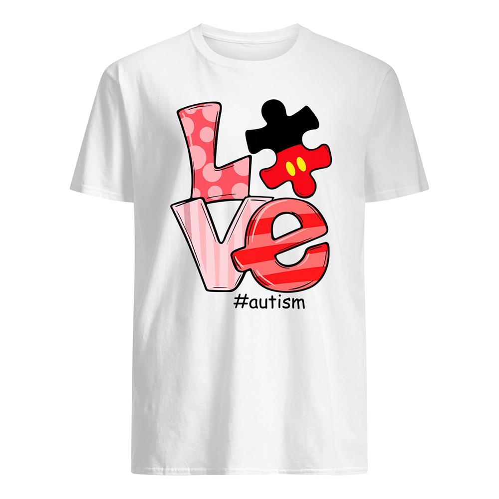 Love autism awareness mens shirt