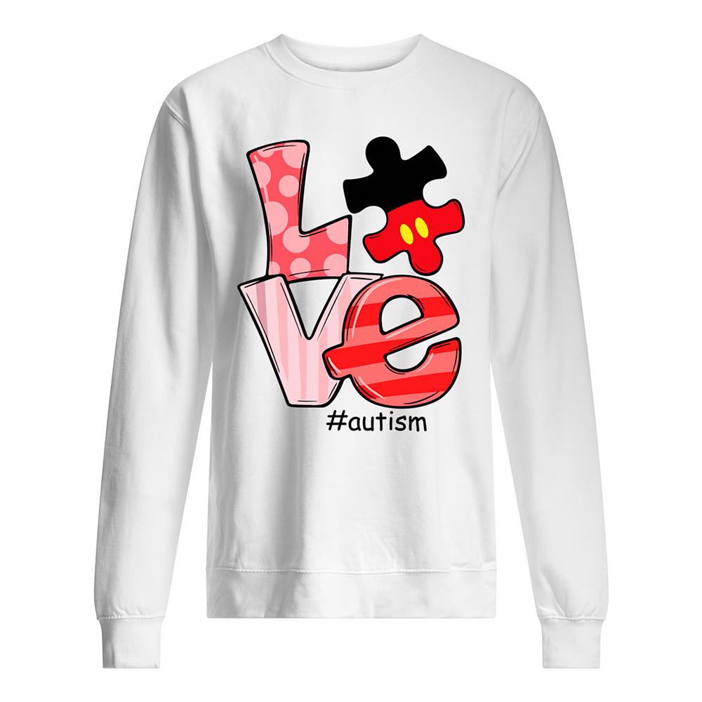 Love autism awareness sweatshirt