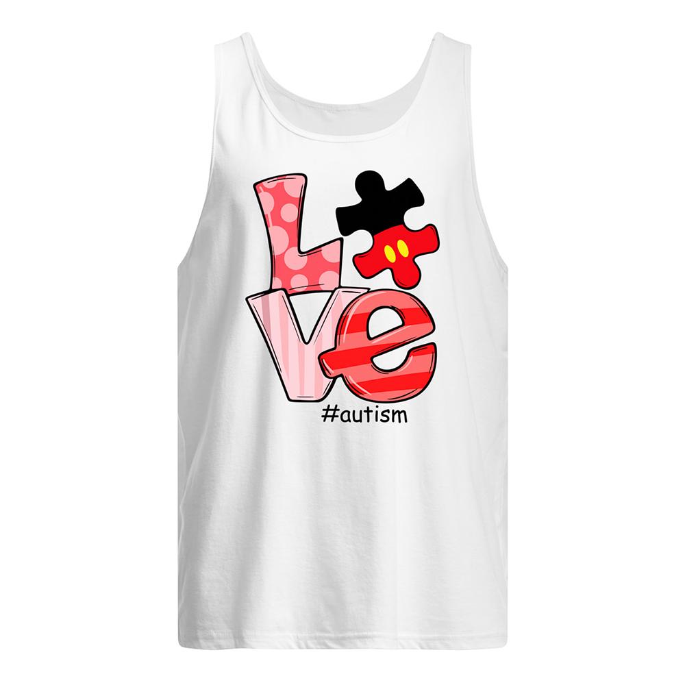 Love autism awareness tank top