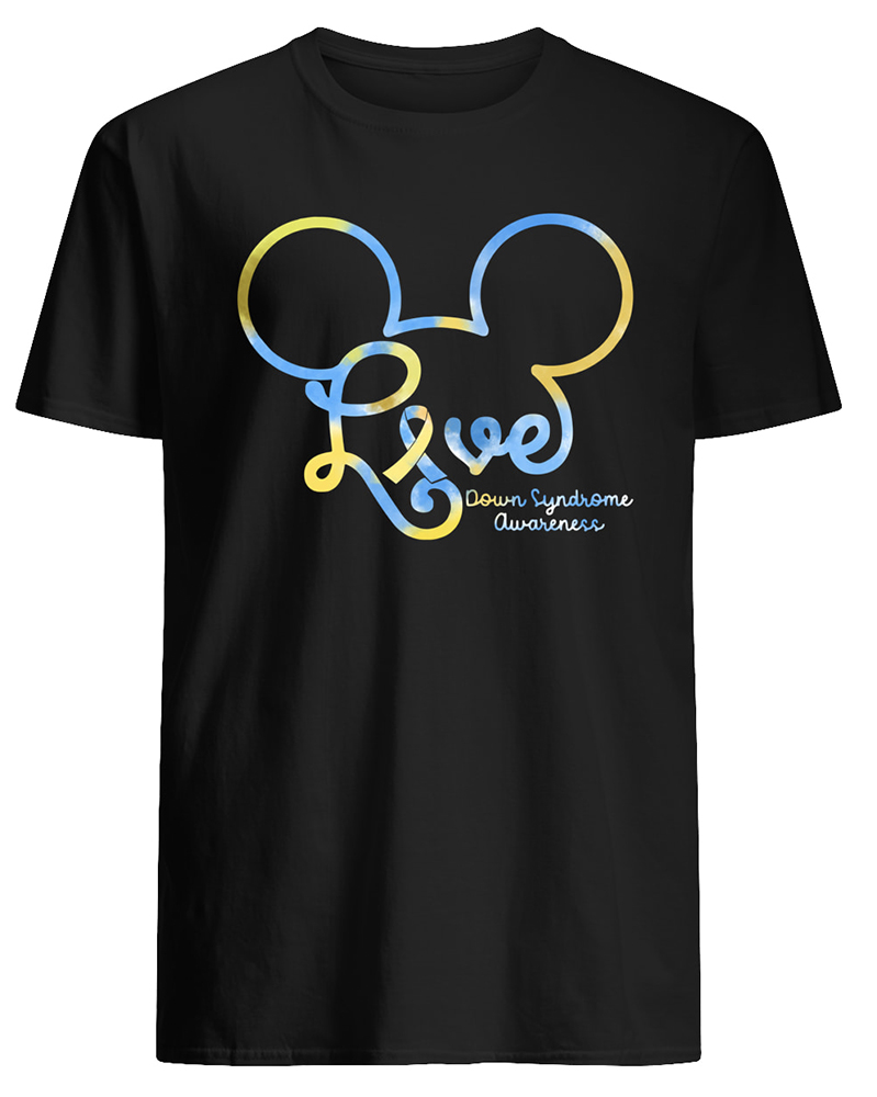 Mickey mouse down syndrome awareness mens shirt