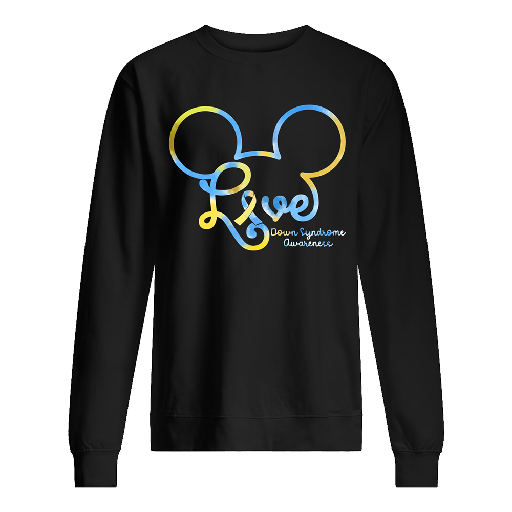 Mickey mouse down syndrome awareness sweatshirt