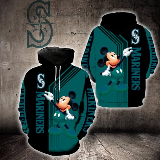 Mickey mouse seattle mariners all over print hoodie
