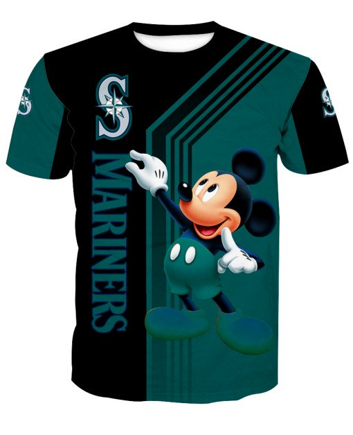 Mickey mouse seattle mariners all over print tshirt