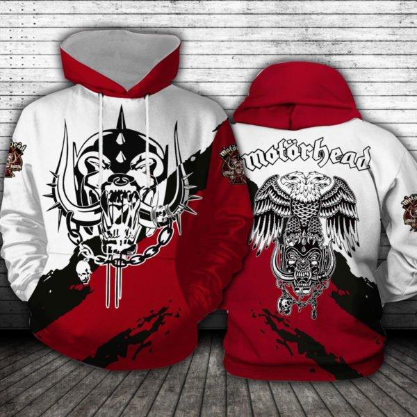 Motorhead logo full printing hoodie 3