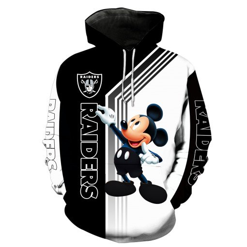 Oakland raiders mickey mouse full printing hoodie