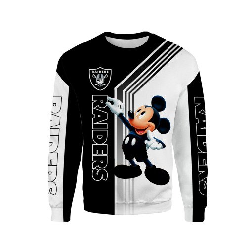 Oakland raiders mickey mouse full printing sweatshirt