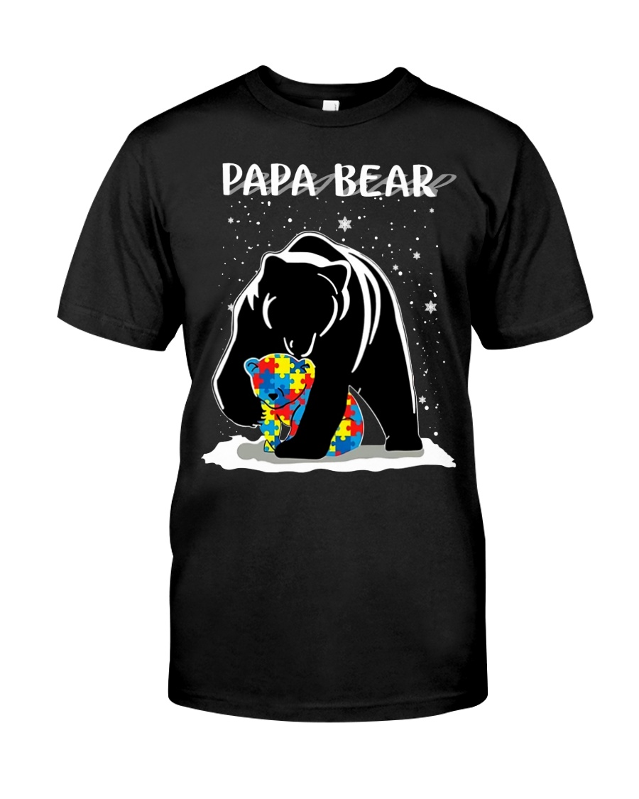Papa bear autism awareness guy shirt