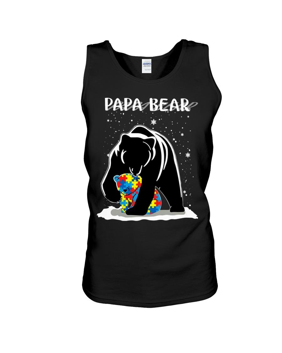 Papa bear autism awareness tank top