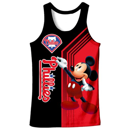 Philadelphia phillies mickey mouse full printing tank top