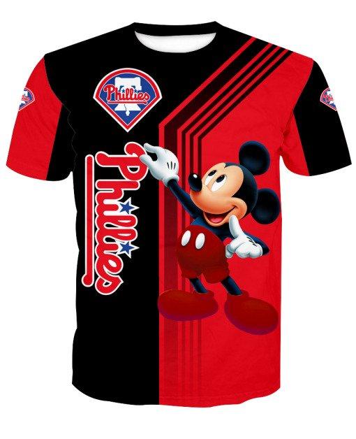 Philadelphia phillies mickey mouse full printing tshirt