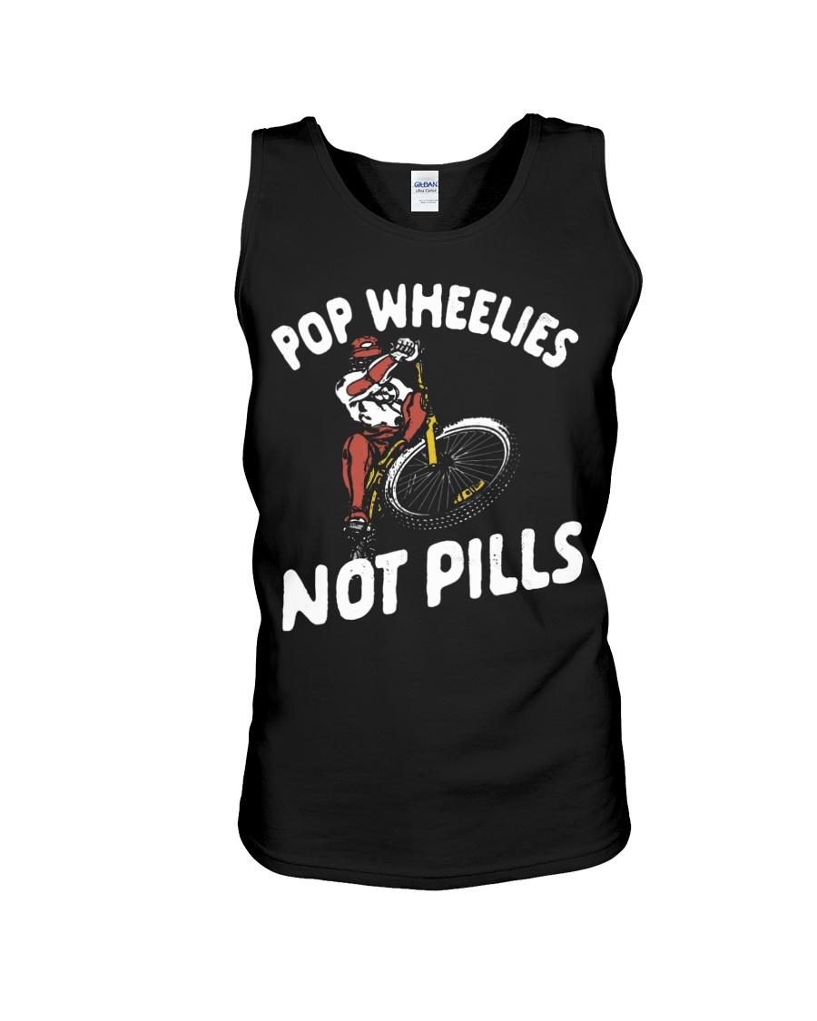 Pop wheelies not pills bicycle tank top