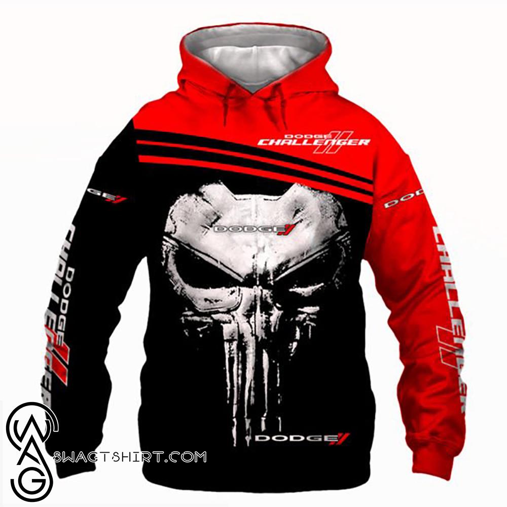 Skull dodge challenger full printing shirt