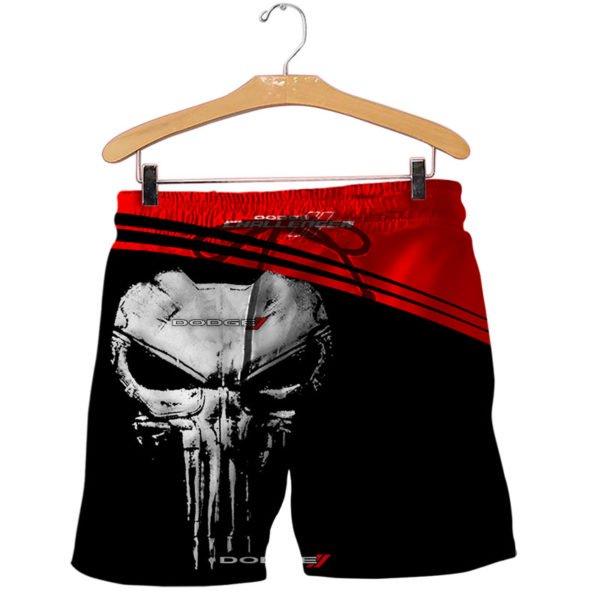 Skull dodge challenger full printing shorts