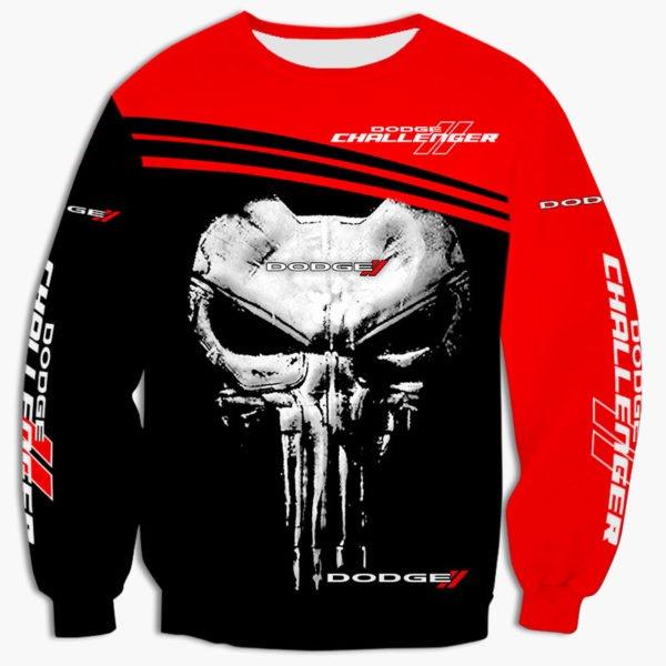 Skull dodge challenger full printing sweatshirt