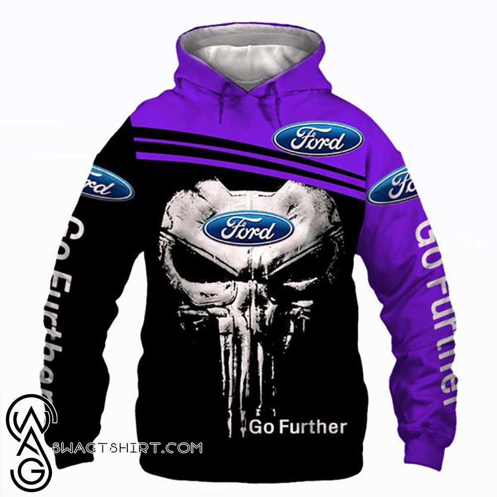 Skull ford go further full printing shirt