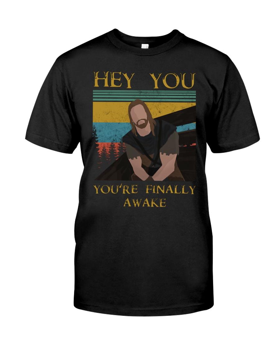 Skyrim hey you you're finally awake guy shirt