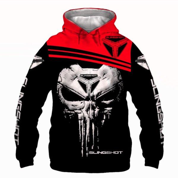 Slingshot skull full printing hoodie