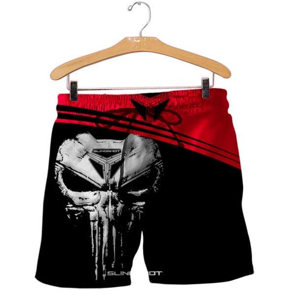 Slingshot skull full printing shorts