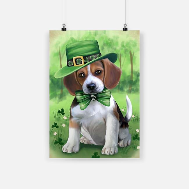 St patrick's day beagles poster 1